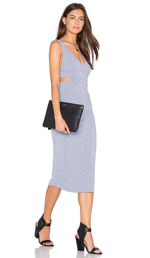 MONROW Cutout Dress in Gray
