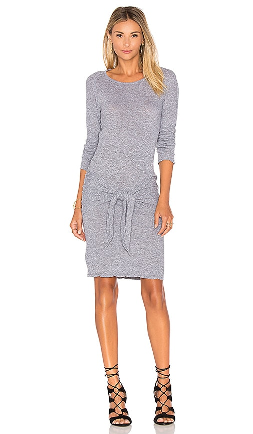 MONROW Tie Front Dress in Gray