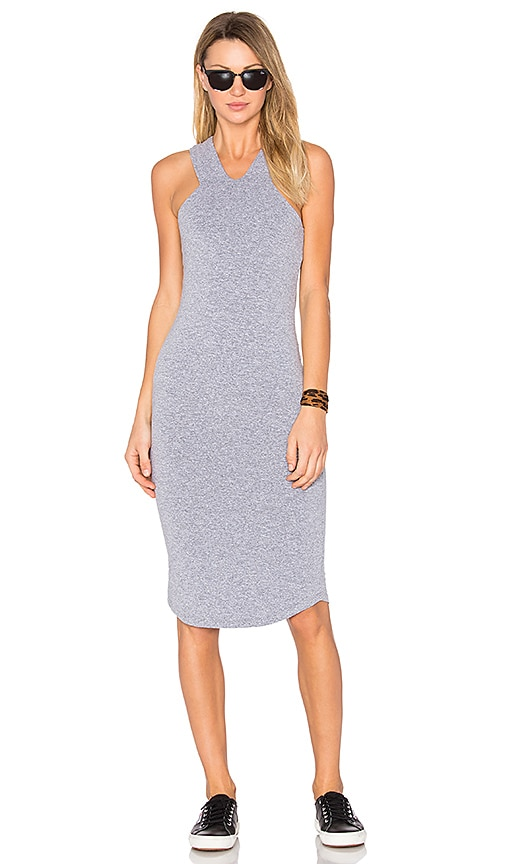 MONROW Cut Out Tank Dress in Gray