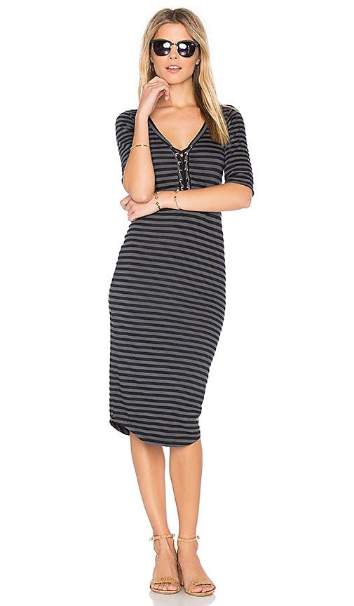 Stripe Lace Up Dress