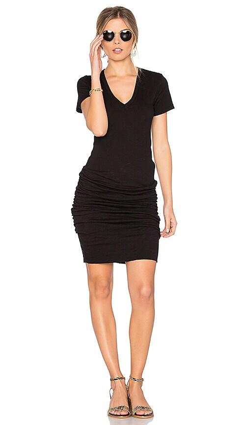 MONROW V Neck Dress in Black