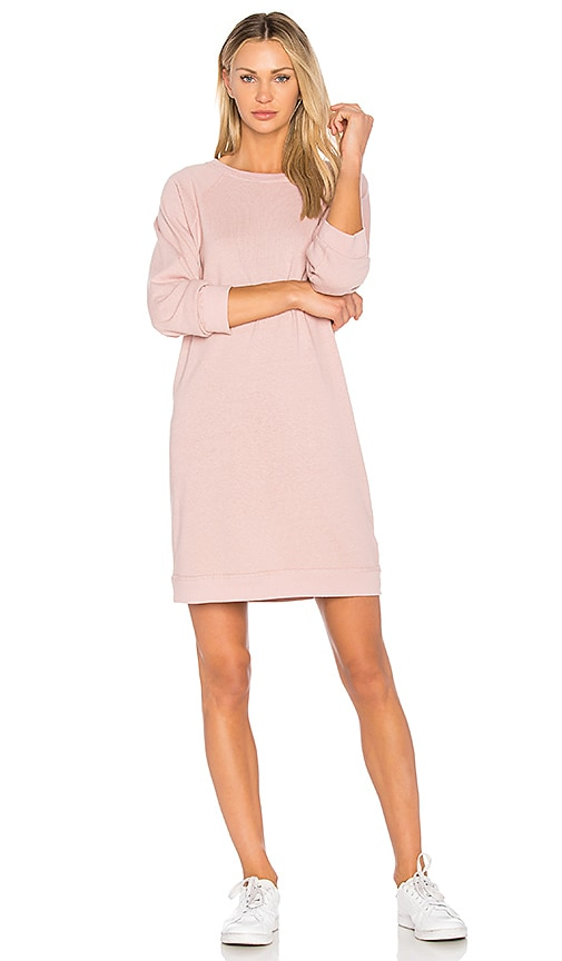 MONROW Vintage Sweatshirt Dress in Pink