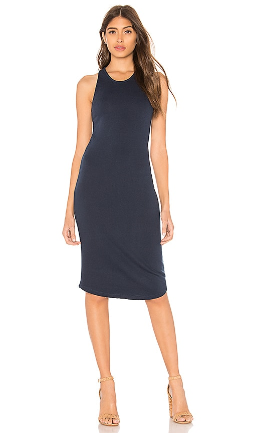 MONROW French Terry Tank Dress in Navy