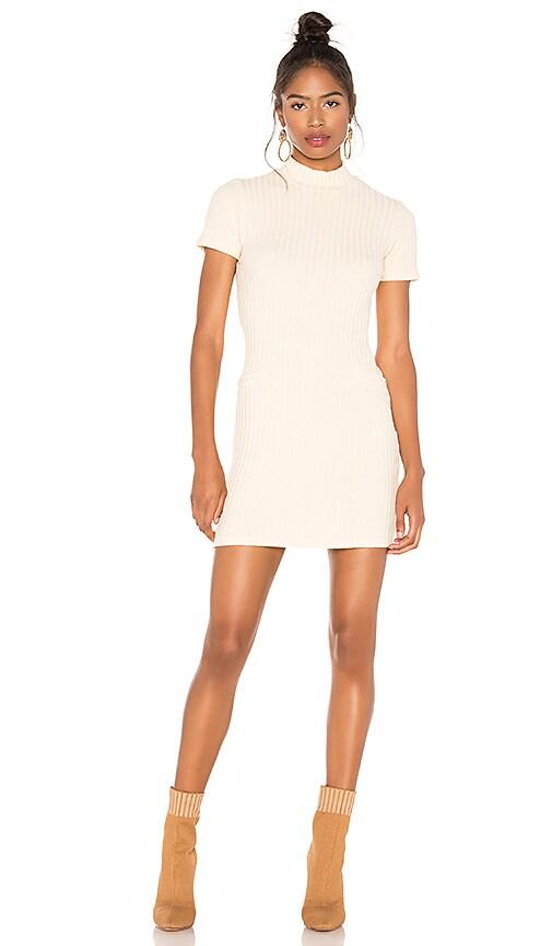 Chunky Rib Mock Neck Mini Dress