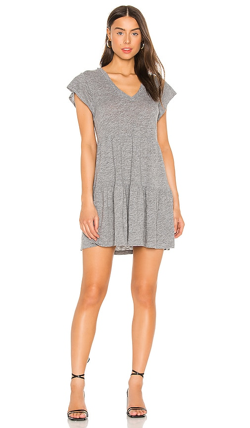 Monrow GRANITE RUFFLE DRESS