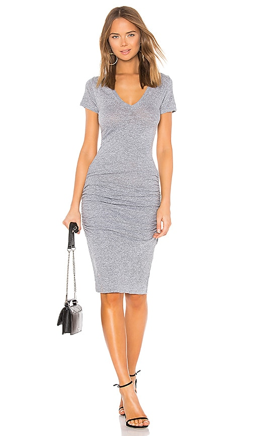 74c414a813280 MONROW Shirred Tee Dress in Granite | REVOLVE