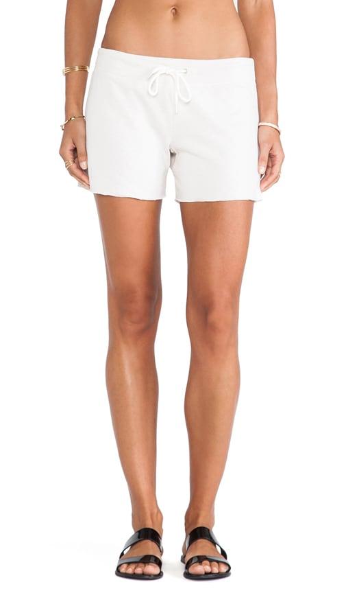 White Fleece Vintage Shorts