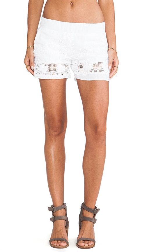 Squares Embroidery Shorts