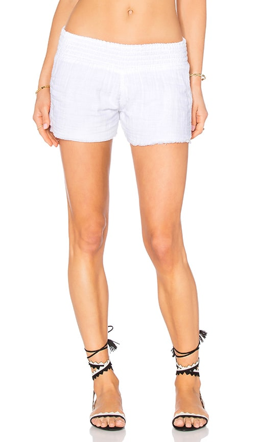 MONROW Boho Beach Short in White