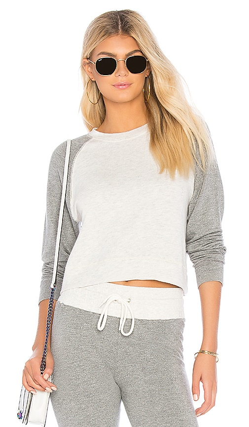 MONROW Raglan Sweatshirt in Gray