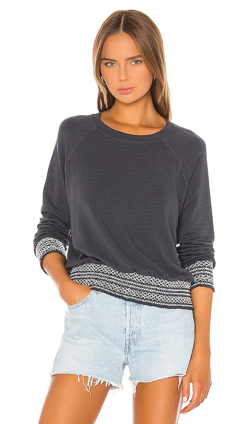 Supersoft Smocked Waist Raglan Sweatshirt