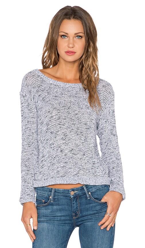 MONROW Salt & Pepper Dip Dye Sweater in White