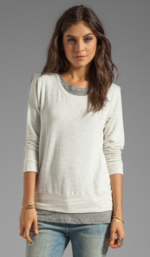 Layered Soft Fleece Sweatshirt