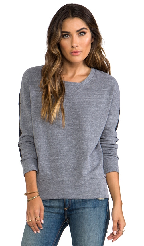 Half and Half Oversized Sweatshirt