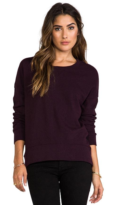 Half and Half Oversized Sweatshirt