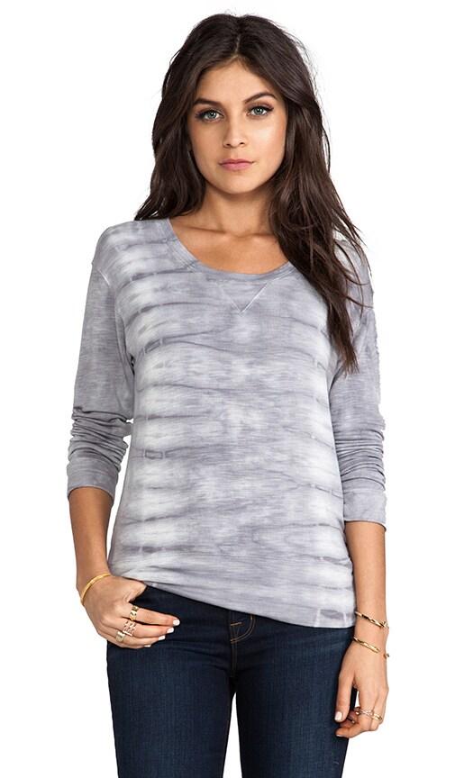 Fish Bone Tie Dye Crew Neck Sweatshirt