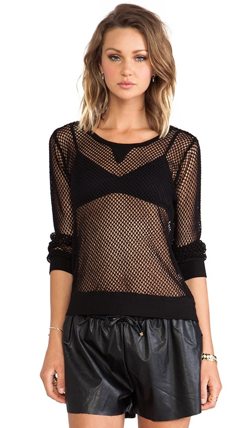 Fishnet Mesh Sweatshirt