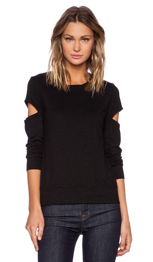 Heather Fleece Open Sleeve Sweatshirt