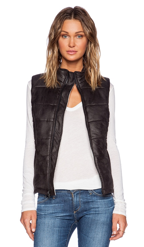 Soft Leather Puffer Vest