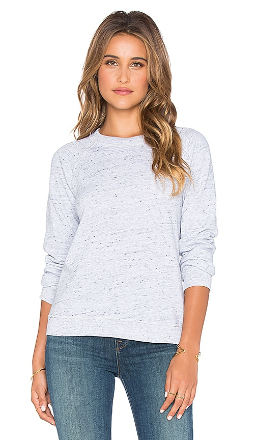 MONROW Vintage Raglan Sweatshirt in Heather Grey