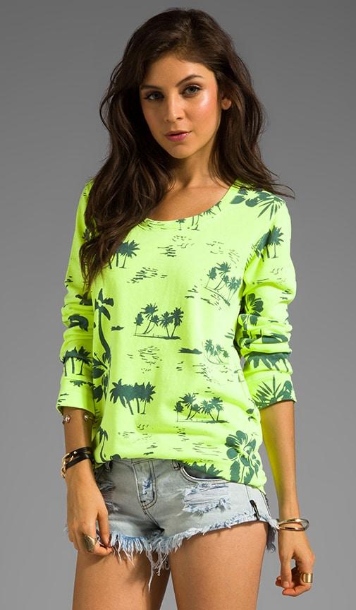 Hawaiian Print Boyfriend Sweatshirt