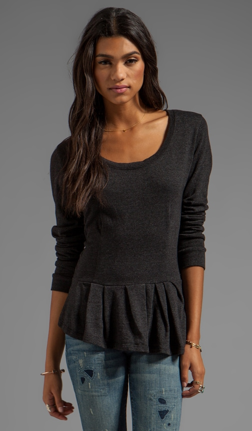 Peplum Fleece Sweatshirt