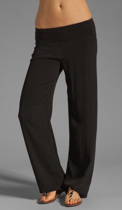 Crepe Knit Woven Pant