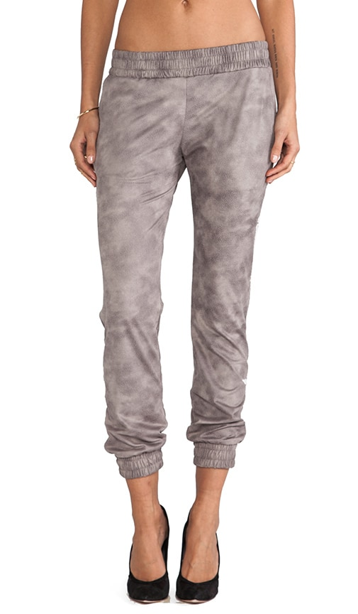 Basic Leather Sweats
