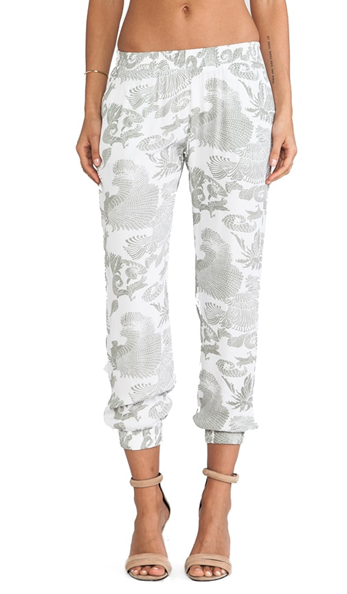 Feather Crepe Skinny Sweatpants
