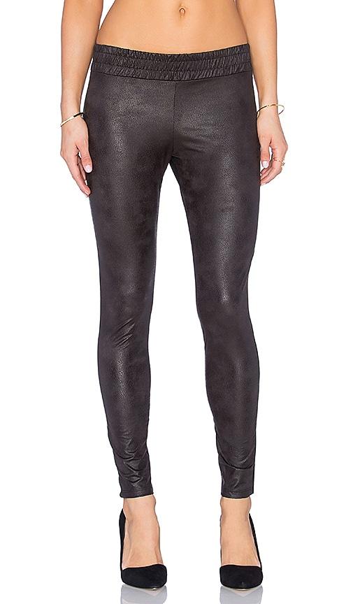Soft Leather Half Half Legging