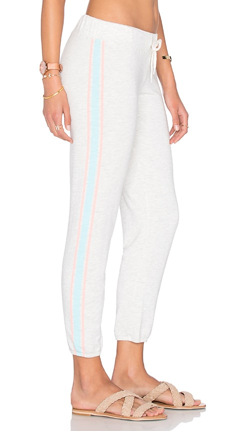 MONROW Athletic Stripe Sweatpant in Gray