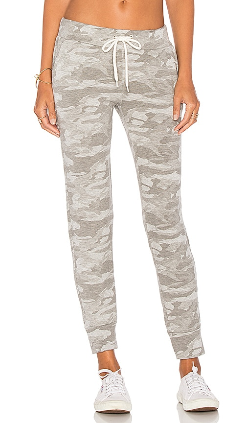 MONROW Neutral Camo Sporty Sweatpant in Gray