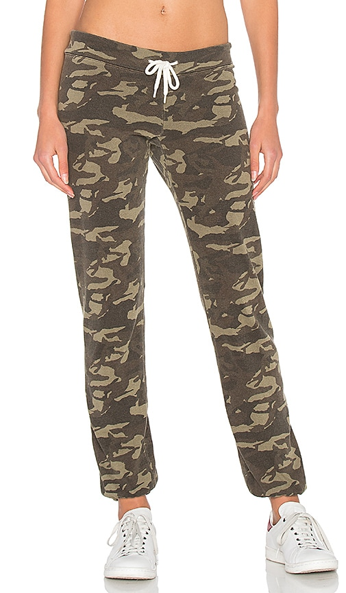 MONROW Camo Vintage Sweatpants in Army