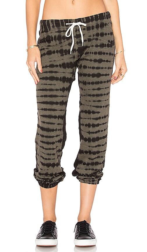 MONROW Croc Tie Dye Vintage Sweatpants in Olive