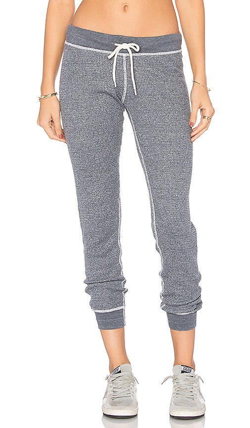 MONROW Burn Out Sweatpants in Gray