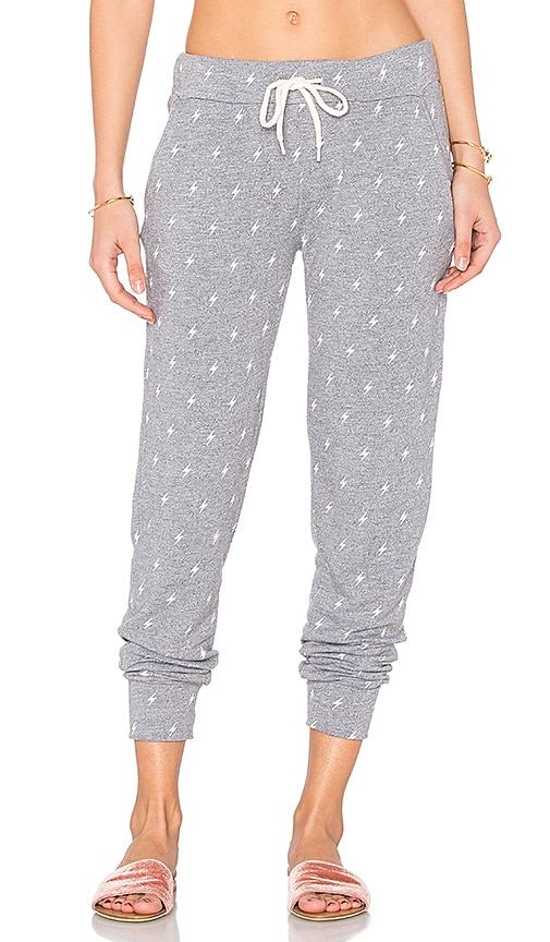 MONROW Sporty Lightning Sweatpant in Gray