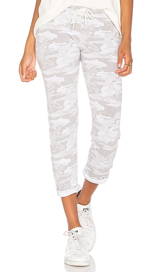 MONROW Camo Sweatpant in White