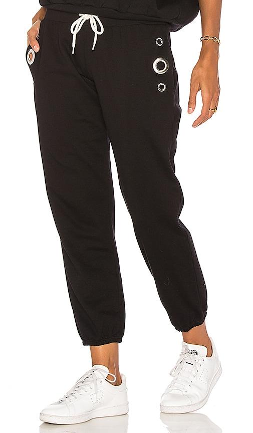 MONROW Grommet Sweatpants in Black