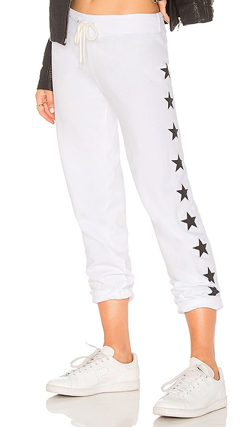 Super-Soft Vintage Sweatpants With Stars in Ivory