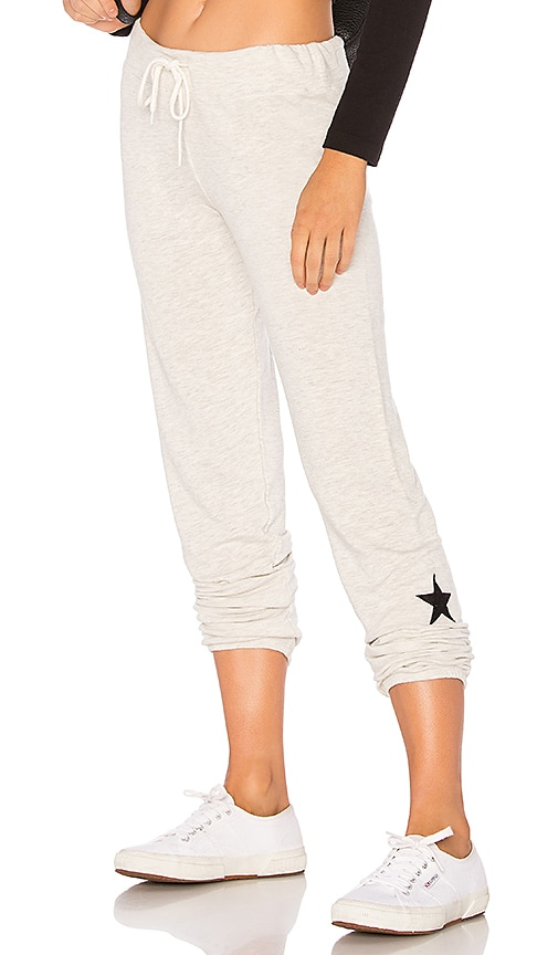 MONROW Star Sweatpant in Gray