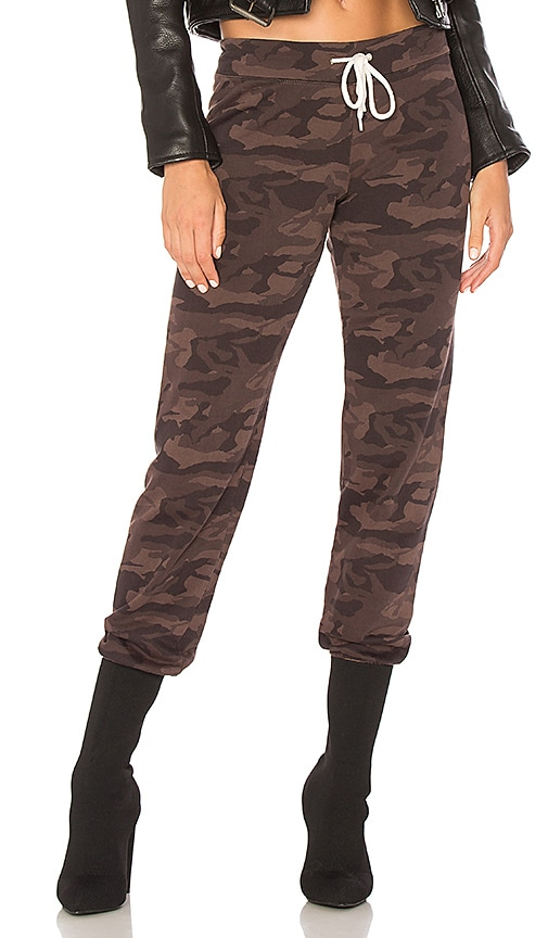 MONROW Camo Vintage Sweatpant in Brown