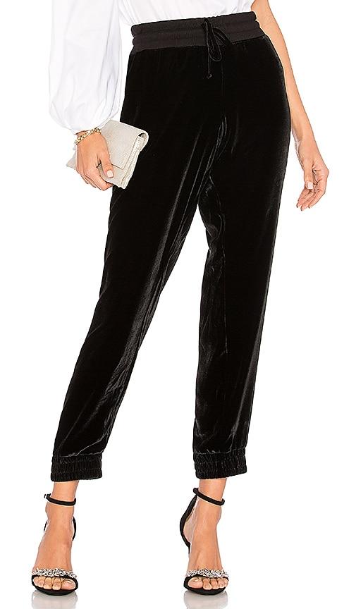 MONROW Velvet Sweatpant in Black
