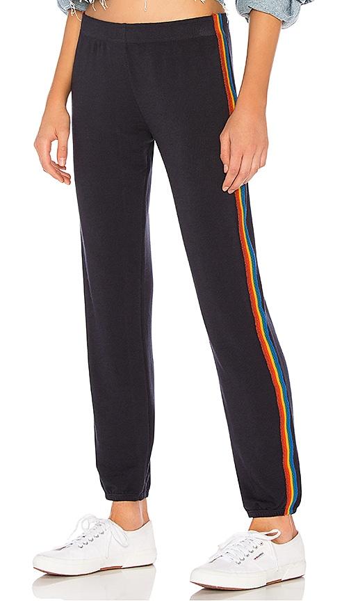 Rainbow Stripe Elastic Waist Sweats