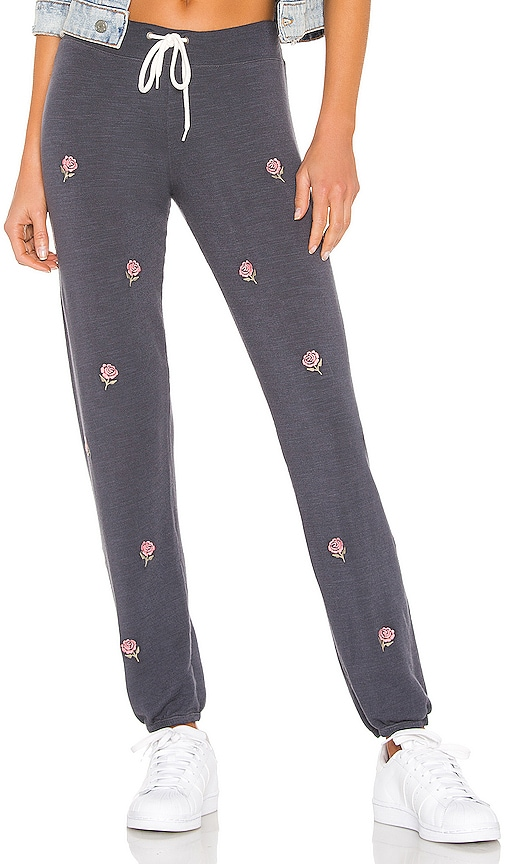 Vintage All Over Rose Embroidery Sweats