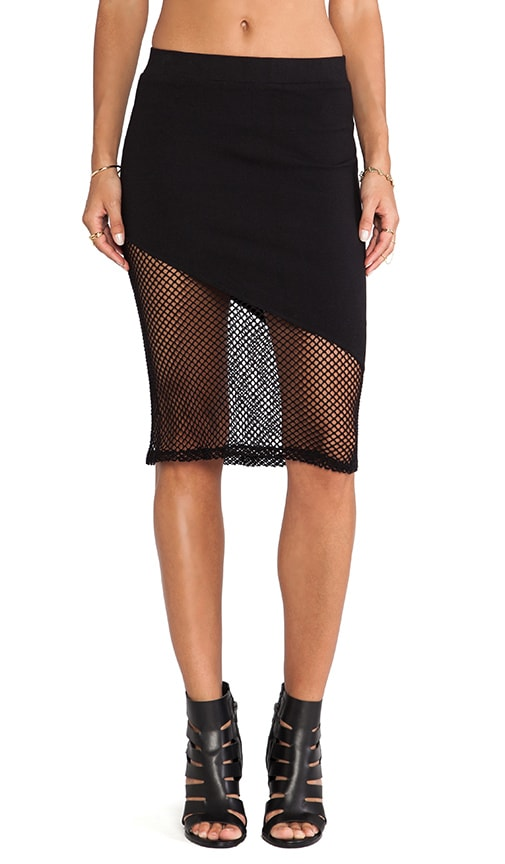 Fishnet Mesh Skirt