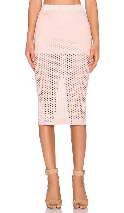 MONROW Crochet Skirt in Pale Pink