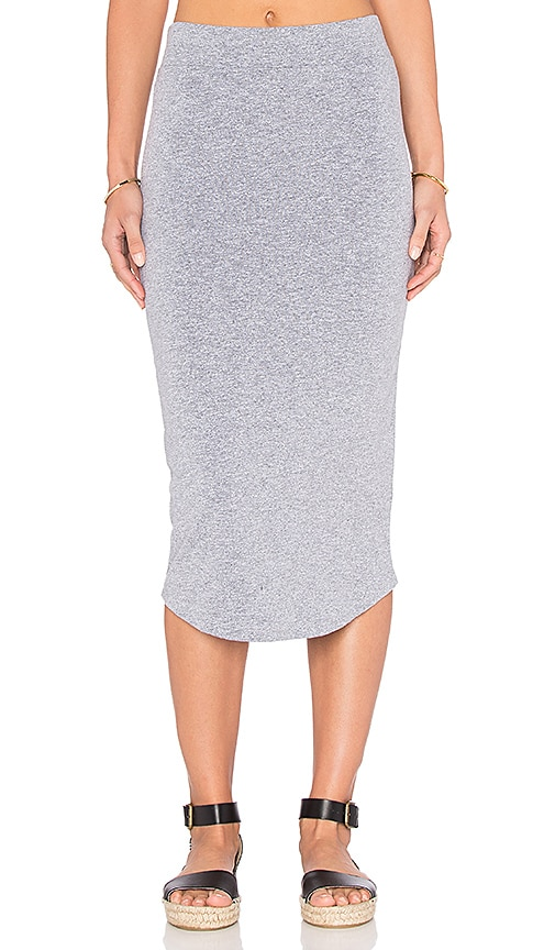 MONROW Pencil Skirt in Gray
