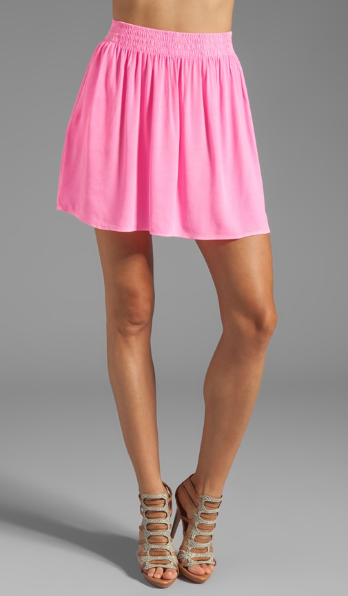 Crepe Short Skirt