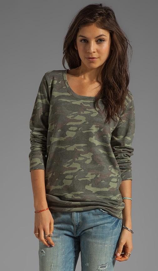 Camo Print Boyfriend Sweatshirt