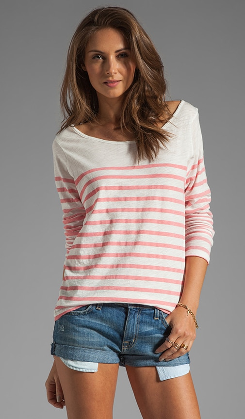French Stripe Streaky Slub Tee